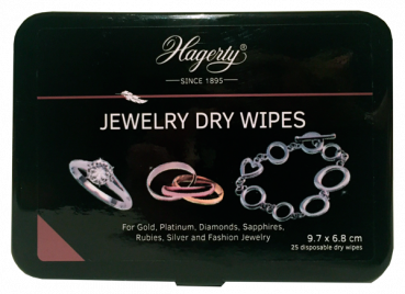 Hagerty JEWELRY DRY WIPES - Cleaning Cloths (25 Tücher)